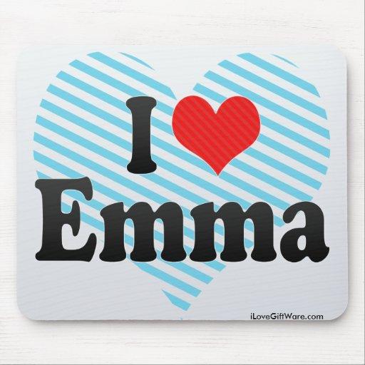 I Love Emma Mouse Pad