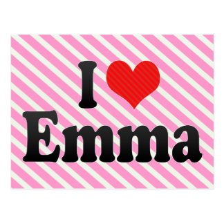 I Love Emma Postcard