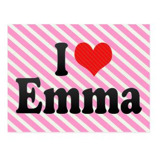 I Love Emma Postcard
