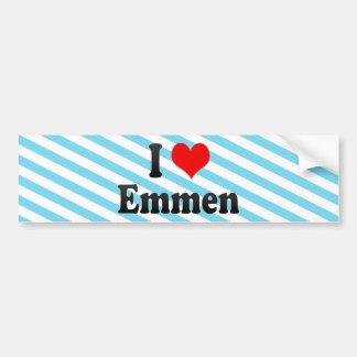 I Love Emmen, Netherlands Car Bumper Sticker