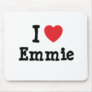 I love Emmie heart T-Shirt Mouse Pad