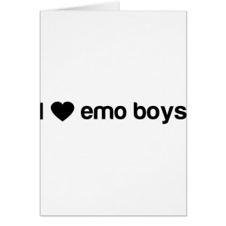 I Love Emo Boys Card