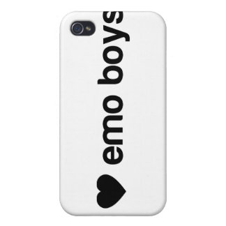 I Love Emo Boys Case For iPhone 4
