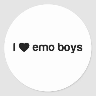 I Love Emo Boys Classic Round Sticker