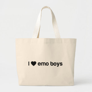 I Love Emo Boys Large Tote Bag