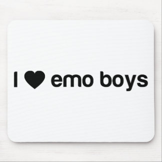 I Love Emo Boys Mouse Pad