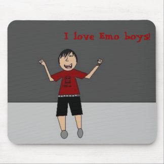 I love Emo boys Mouse Pads