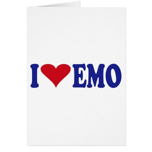 I Love Emo Greeting Card