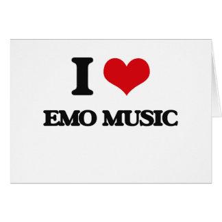 I Love EMO MUSIC Greeting Card