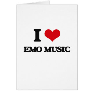 I Love EMO MUSIC Cards