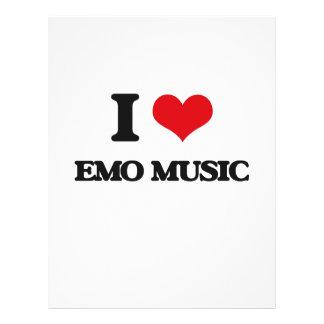I Love EMO MUSIC Custom Flyer