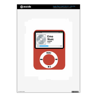 I love Emo Music Decals For iPad 3
