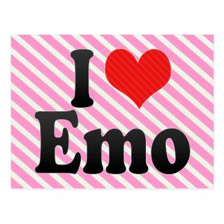 I Love Emo Postcard