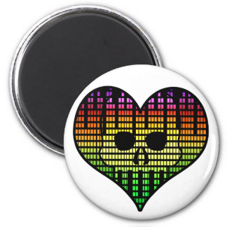 I love Emo Techno 2 Inch Round Magnet