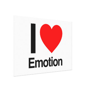 i love emotion stretched canvas prints