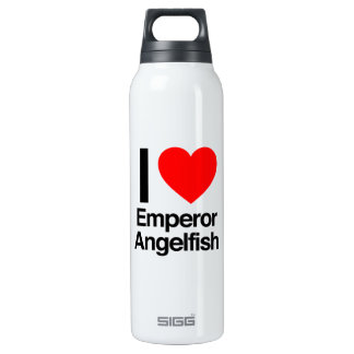 i love emperor angelfish thermos water bottle