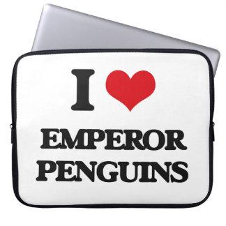I love Emperor Penguins Laptop Computer Sleeve