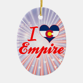 I Love Empire, Colorado Double-Sided Oval Ceramic Christmas Ornament
