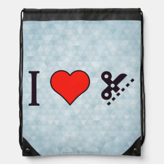 I Love Employing Precision Drawstring Bag