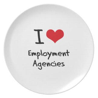 I love Employment Agencies Plate