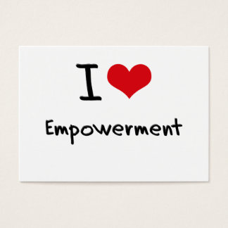 I love Empowerment Business Card