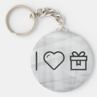 I Love Empty Giftboxes Basic Round Button Keychain
