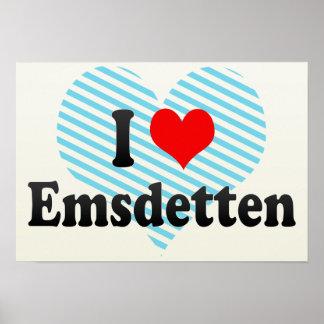 I Love Emsdetten, Germany Poster