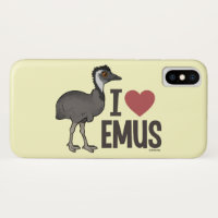 I Love Emus Case-Mate Barely There Apple iPhone XS Case