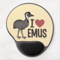 I Love Emus Gel Mousepad