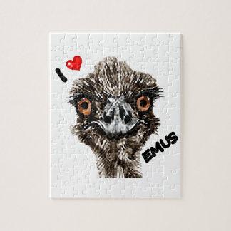 I LOVE EMUS PUZZLE
