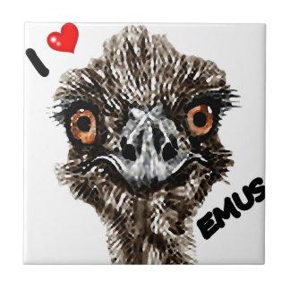 I LOVE EMUS CERAMIC TILE