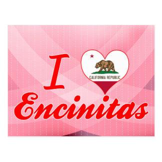 I Love Encinitas, California Postcards