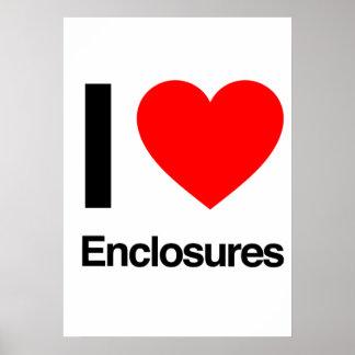 i love enclosures print