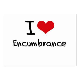 I love Encumbrance Business Card Template
