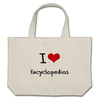 I love Encyclopedias Canvas Bag