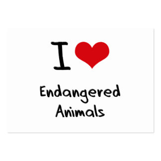 I love Endangered Animals Business Card Templates