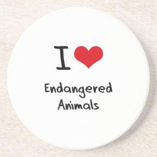 I love Endangered Animals Coaster