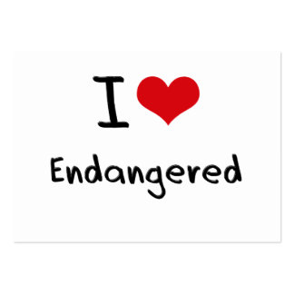 I love Endangered Business Card Templates