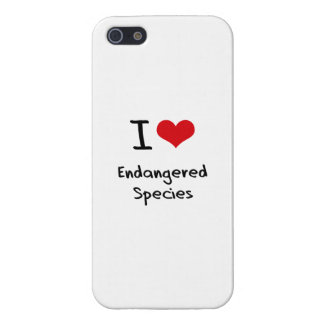 I love Endangered Species Cover For iPhone 5