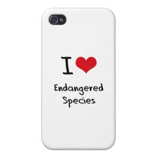 I love Endangered Species iPhone 4 Cases