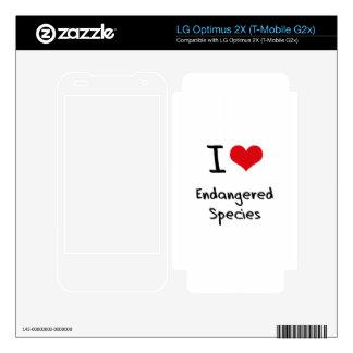 I love Endangered Species LG Optimus 2X Decals