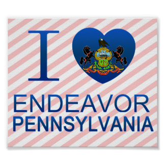 I Love Endeavor, PA Poster