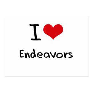I love Endeavors Large Business Cards (Pack Of 100)