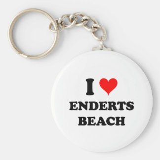 I Love Enderts Beach Keychain
