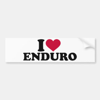 I love Enduro Bumper Sticker