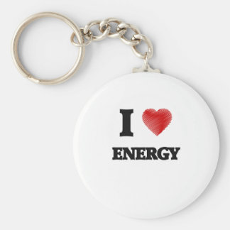 I love ENERGY Basic Round Button Keychain
