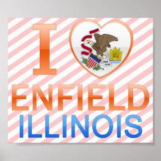 I Love Enfield, IL Print