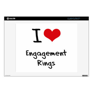 I love Engagement Rings Laptop Skin