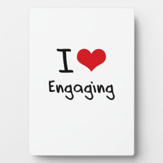 I love Engaging Photo Plaque