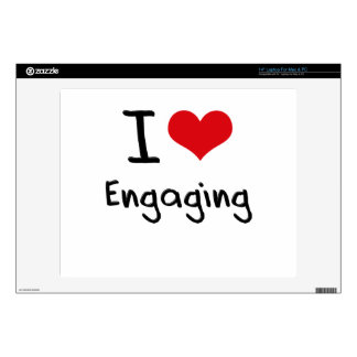 """I love Engaging 14"""" Laptop Decal"""